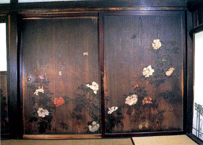 御嶽神社里宮社務所の杉戸絵