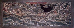 御嶽神社里宮社務所の欄間彫刻